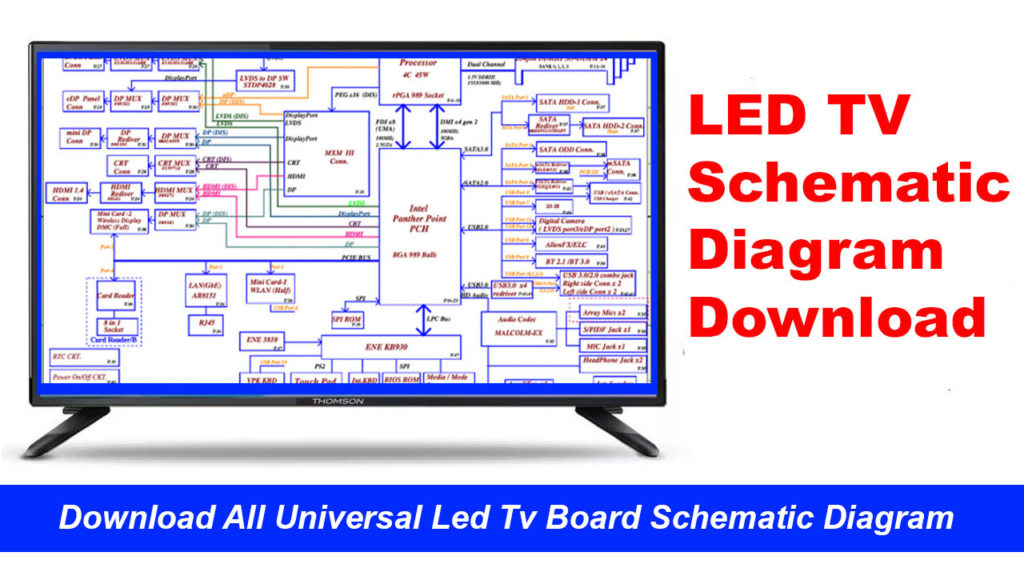 All Lcd Led Tv Board Schematic Diagram Free Download