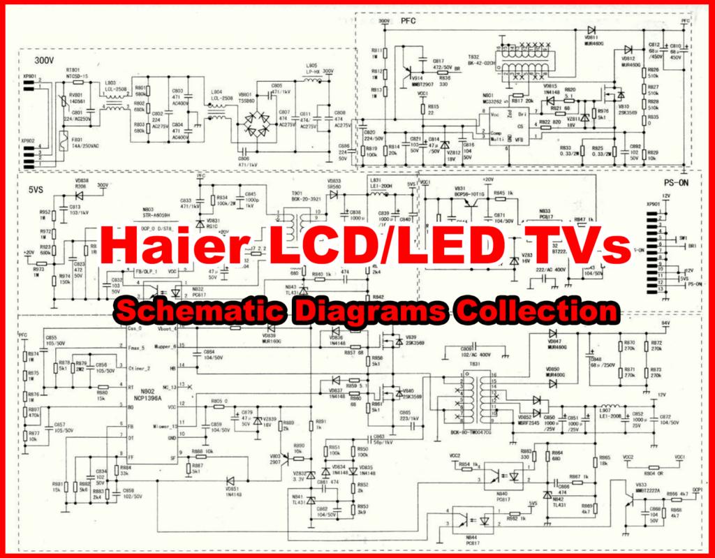 Haier Lcd  Led Tv Schematics Diagram  Circuit Diagram  Service Manuals