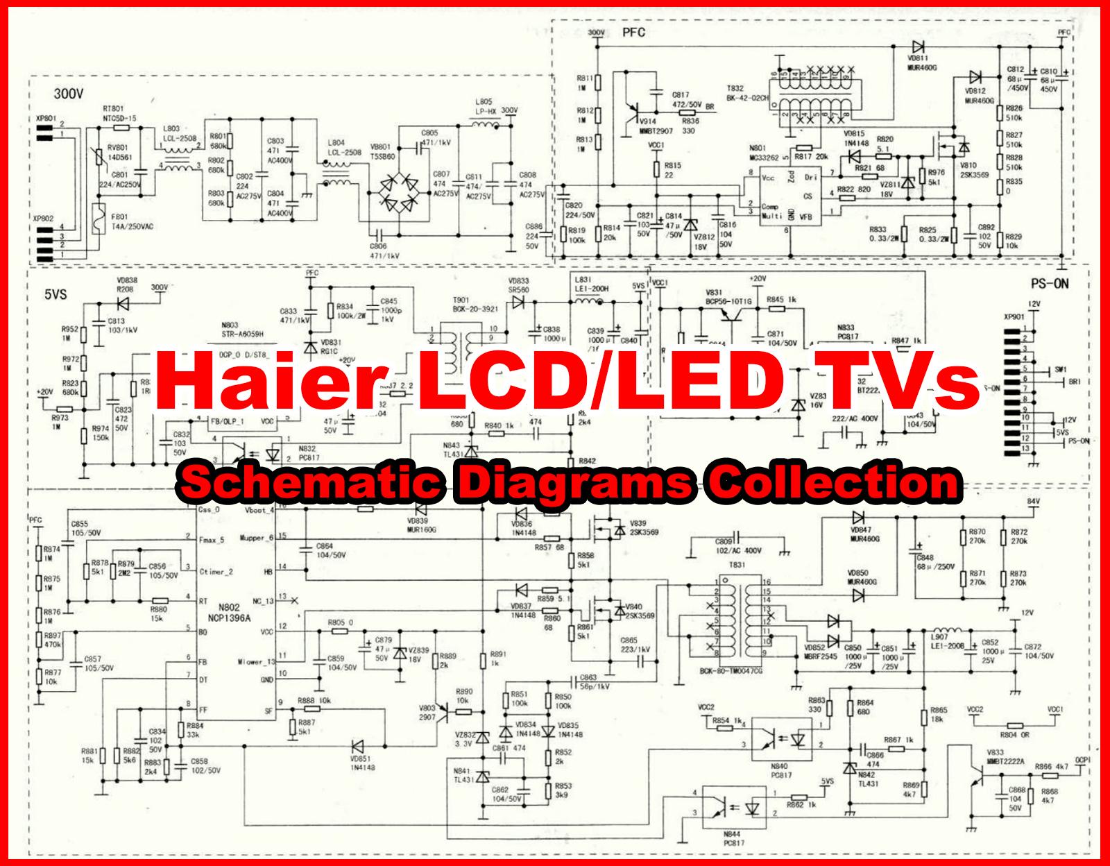 Haier Lcd  Led Tv Schematics Diagram  Circuit Diagram