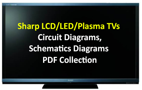 sharp led tv schematics diagram