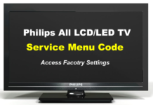 Philips TV Service Menu Codes