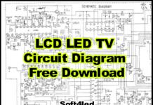 LCD LED TV Circuit Diagram Free Download
