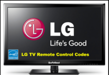 Universal Remote Control Codes for LG TV