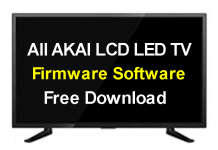 All Akai LCD/LED TV Firmware Software Free Download